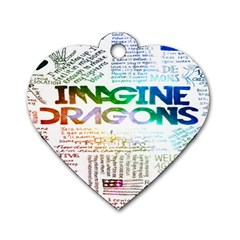 Imagine Dragons Quotes Dog Tag Heart (two Sides) by BangZart