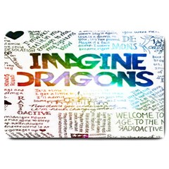 Imagine Dragons Quotes Large Doormat  by BangZart