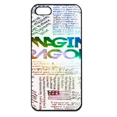 Imagine Dragons Quotes Apple Iphone 5 Seamless Case (black)