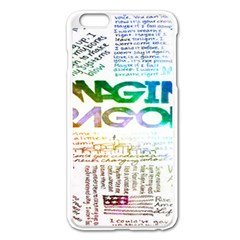 Imagine Dragons Quotes Apple Iphone 6 Plus/6s Plus Enamel White Case by BangZart