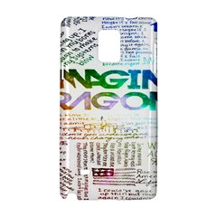 Imagine Dragons Quotes Samsung Galaxy Note 4 Hardshell Case by BangZart