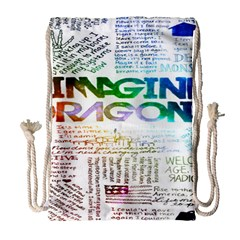 Imagine Dragons Quotes Drawstring Bag (large)