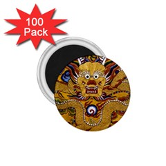 Chinese Dragon Pattern 1 75  Magnets (100 Pack)