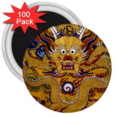 Chinese Dragon Pattern 3  Magnets (100 Pack)