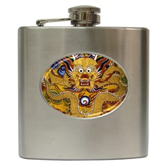 Chinese Dragon Pattern Hip Flask (6 Oz)