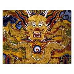 Chinese Dragon Pattern Rectangular Jigsaw Puzzl