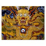Chinese Dragon Pattern Rectangular Jigsaw Puzzl Front