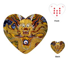 Chinese Dragon Pattern Playing Cards (heart)
