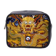 Chinese Dragon Pattern Mini Toiletries Bag 2 Side