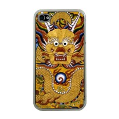 Chinese Dragon Pattern Apple Iphone 4 Case (clear) by BangZart