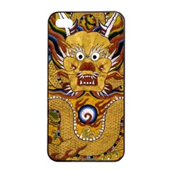 Chinese Dragon Pattern Apple Iphone 4/4s Seamless Case (black)