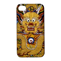 Chinese Dragon Pattern Apple Iphone 4/4s Hardshell Case With Stand