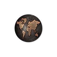 Grunge Map Of Earth Golf Ball Marker (10 Pack) by BangZart