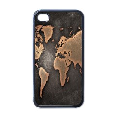 Grunge Map Of Earth Apple Iphone 4 Case (black)