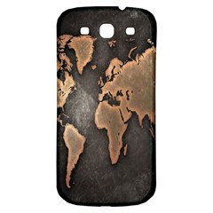 Grunge Map Of Earth Samsung Galaxy S3 S Iii Classic Hardshell Back Case