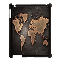 Grunge Map Of Earth Apple Ipad 3/4 Case (black) by BangZart