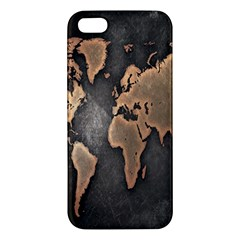 Grunge Map Of Earth Apple Iphone 5 Premium Hardshell Case