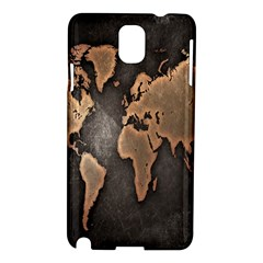 Grunge Map Of Earth Samsung Galaxy Note 3 N9005 Hardshell Case
