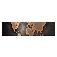 Grunge Map Of Earth Satin Scarf (oblong) by BangZart
