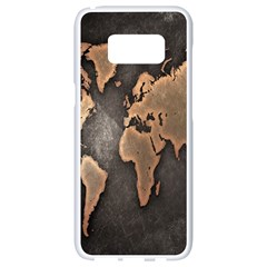 Grunge Map Of Earth Samsung Galaxy S8 White Seamless Case