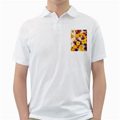 Colorful Flowers Pattern Golf Shirts