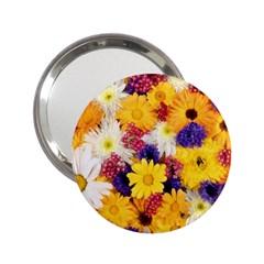 Colorful Flowers Pattern 2 25  Handbag Mirrors