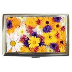Colorful Flowers Pattern Cigarette Money Cases