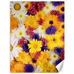 Colorful Flowers Pattern Canvas 36  X 48