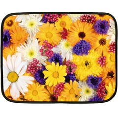 Colorful Flowers Pattern Double Sided Fleece Blanket (mini)