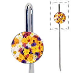 Colorful Flowers Pattern Book Mark