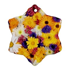 Colorful Flowers Pattern Ornament (snowflake)