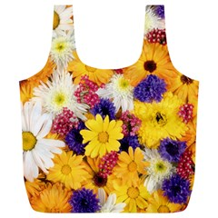 Colorful Flowers Pattern Full Print Recycle Bags (l)