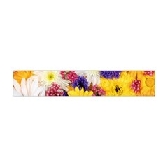 Colorful Flowers Pattern Flano Scarf (mini)