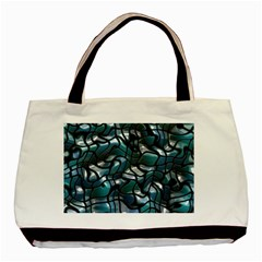 Old Spiderwebs On An Abstract Glass Basic Tote Bag (two Sides)