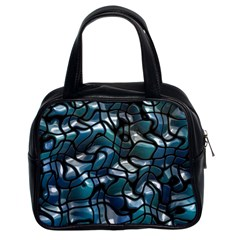 Old Spiderwebs On An Abstract Glass Classic Handbags (2 Sides)