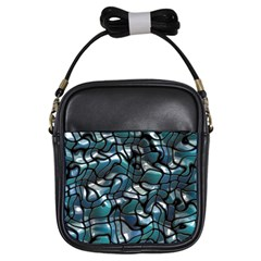 Old Spiderwebs On An Abstract Glass Girls Sling Bags
