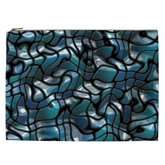 Old Spiderwebs On An Abstract Glass Cosmetic Bag (xxl)