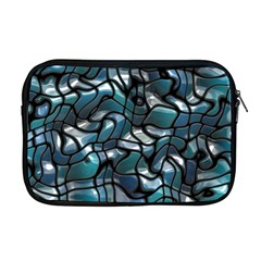 Old Spiderwebs On An Abstract Glass Apple Macbook Pro 17  Zipper Case
