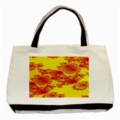Floral Fractal Pattern Basic Tote Bag