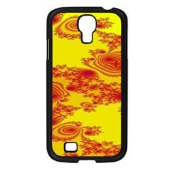 Floral Fractal Pattern Samsung Galaxy S4 I9500/ I9505 Case (black)
