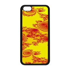 Floral Fractal Pattern Apple Iphone 5c Seamless Case (black) by BangZart