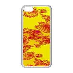 Floral Fractal Pattern Apple Iphone 5c Seamless Case (white)