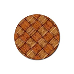 Vector Square Texture Pattern Rubber Coaster (round)