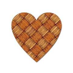 Vector Square Texture Pattern Heart Magnet