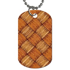 Vector Square Texture Pattern Dog Tag (two Sides)