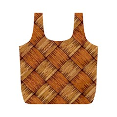 Vector Square Texture Pattern Full Print Recycle Bags (m)