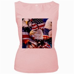 United States Of America Images Independence Day Women s Pink Tank Top