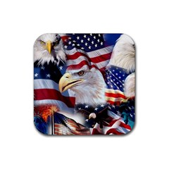 United States Of America Images Independence Day Rubber Square Coaster (4 Pack)