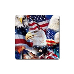 United States Of America Images Independence Day Square Magnet