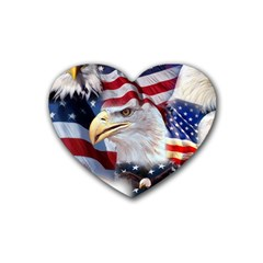 United States Of America Images Independence Day Rubber Coaster (heart)